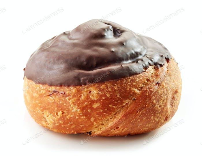 freshly baked chocolate roll