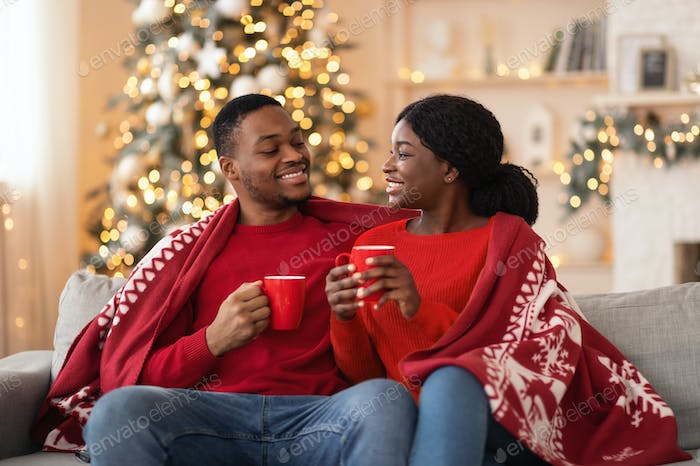 Romantic celebration of new year and christmas on self-isolation at home