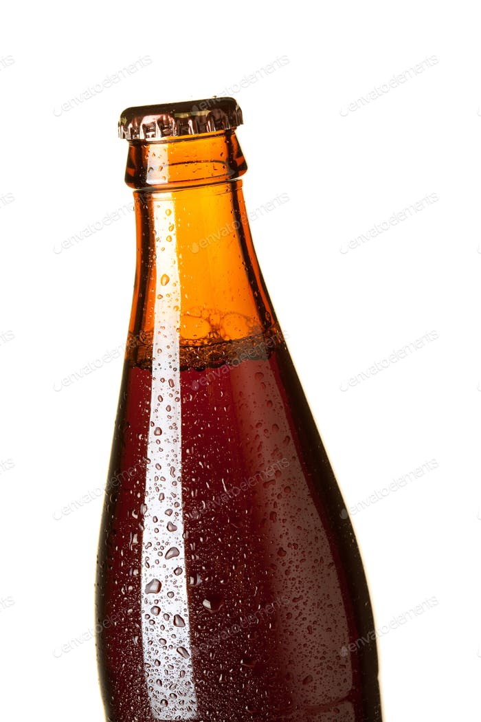 Closeup beer bottle