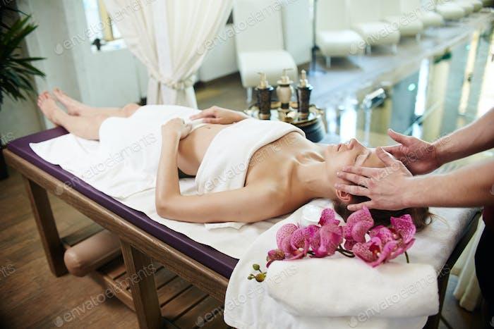 Woman Enjoying SPA Vacation