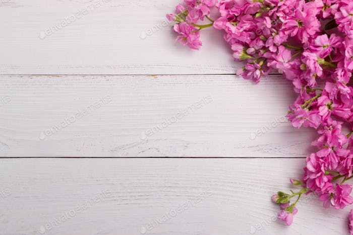 Pink Flowers On Wooden Background Photo By Lana M On Envato