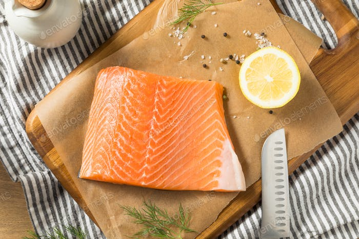Raw Organic Atlantic Salmon Fillet