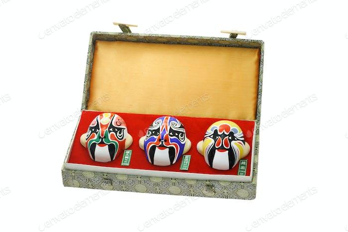 Chinesische Oper Maske Ornamente