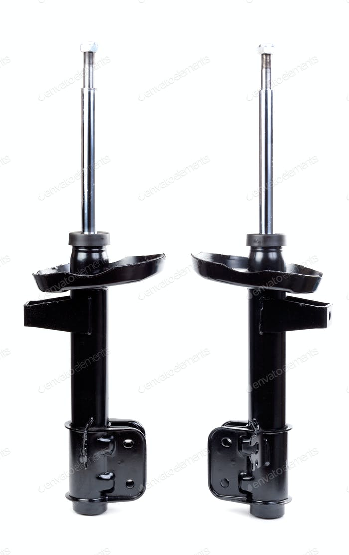 Two black shock absorber