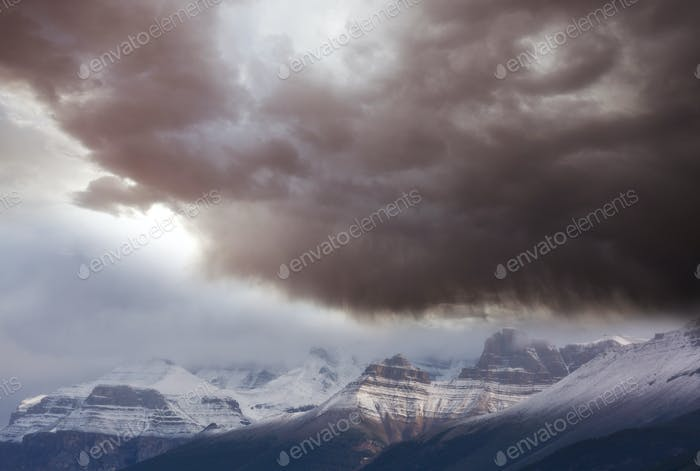 Storm in mountains