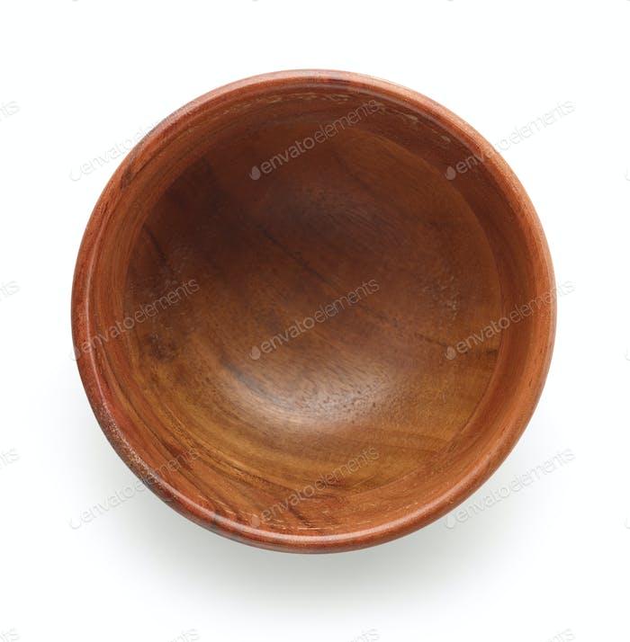 empty wooden bowl