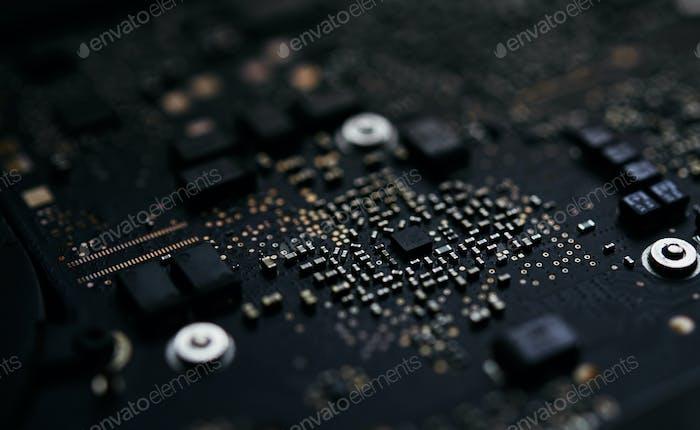 Vista de cerca del circuito Electrónico