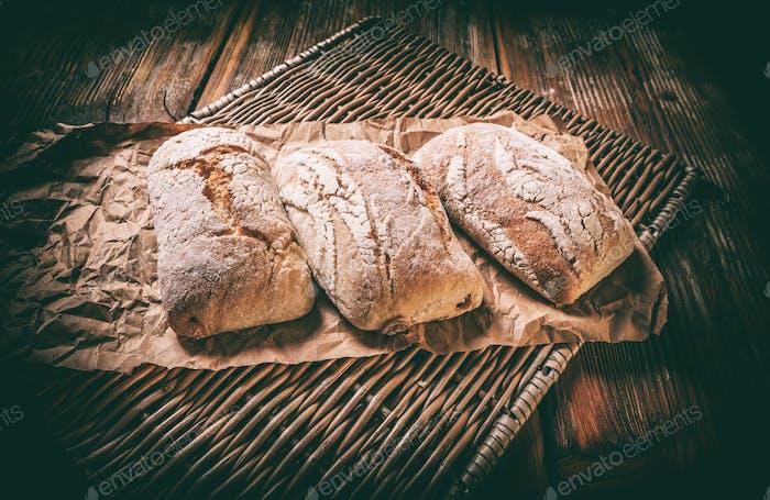 Freshly baked rolls