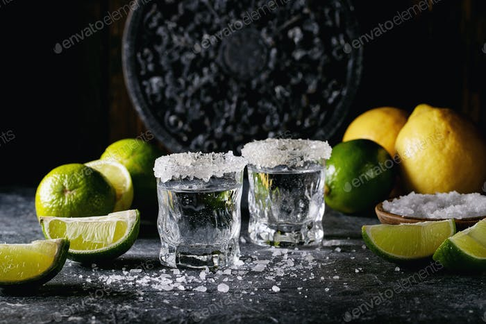 Tequila in a glass