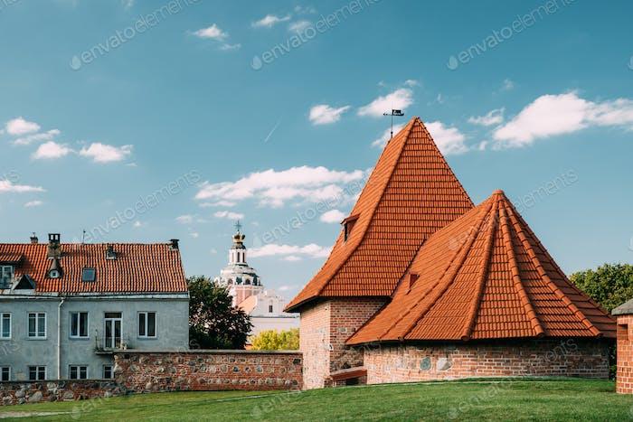 Vilnius, Lithuania. Old Towers Of Artillery Bastion Of Vilnius.