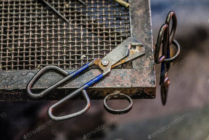 Blowing Glass Diamond Shear Scissors