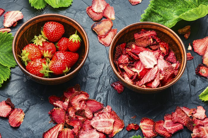 Fruit strawberry chips.