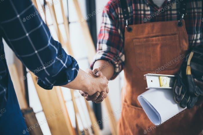 carpenters team work together creatively, creative carpenter