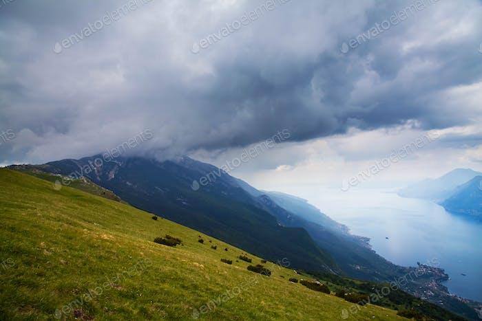 Garda Lake top view