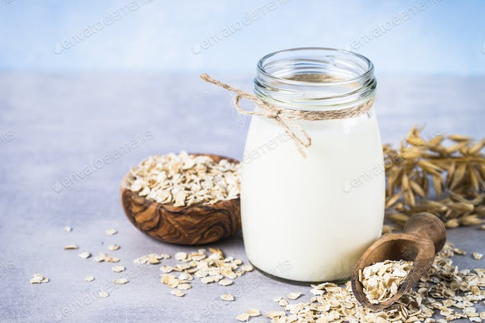 Vegan oat milk, non dairy alternative milk