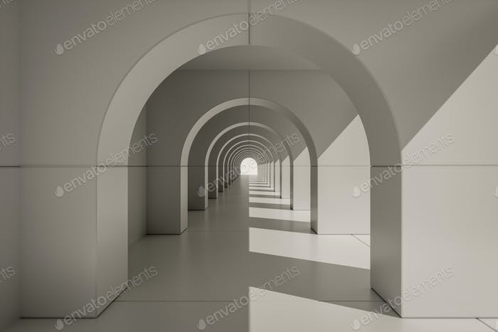 Thumbnail for An typical archway centered with light from right
