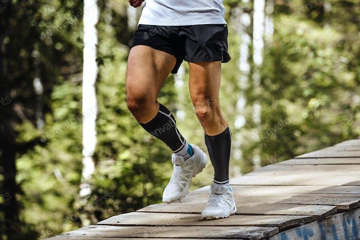 Marathonläufer Laufen im Wald