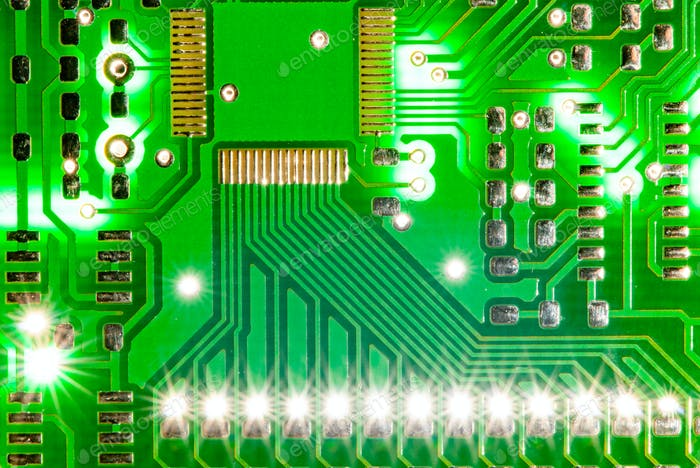 Modern green PCB board background