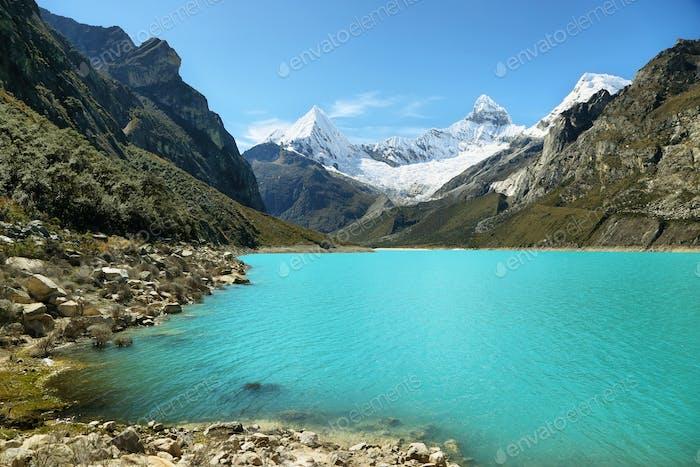 Paron lake and Pyramid peak