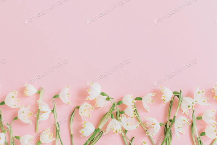 Floral tender border template with copy space