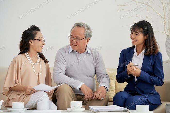 Reunión con el asesor financiero