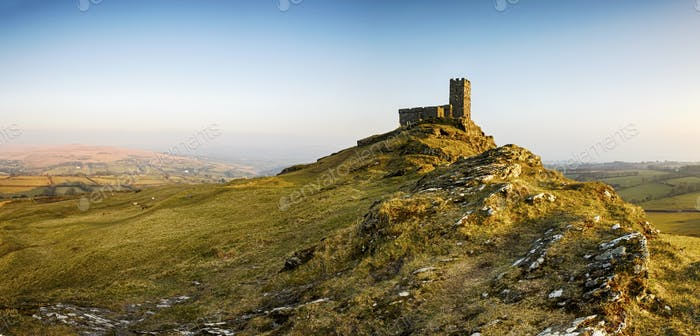 Brentor Church on Dartmoor in Devon