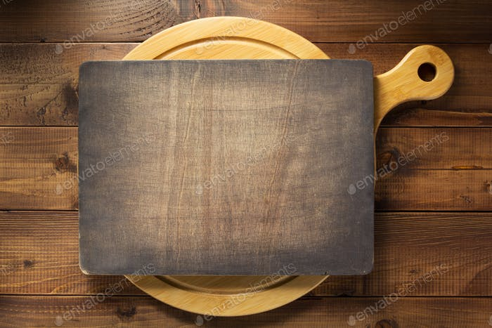 letrero en Panel de cortar de De madera
