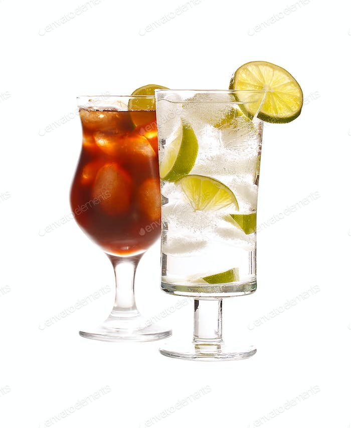 Vodka and cola drink