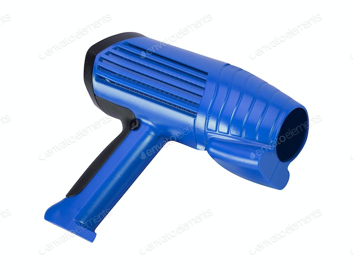 electrical heat gun isolated on a white background