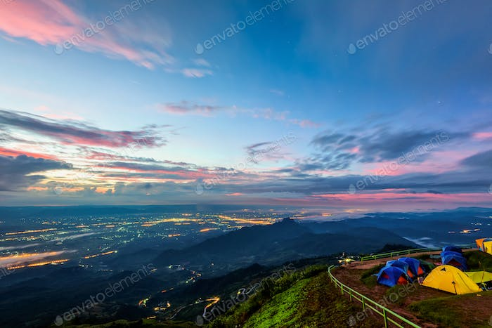 Phu Thap Berk during the sunrise