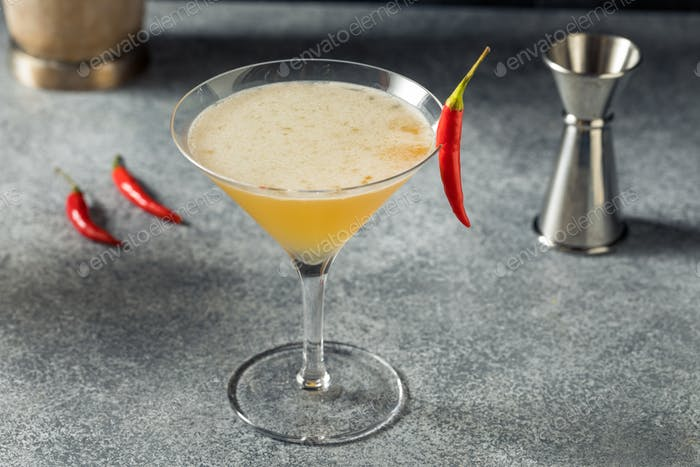 Boozy Refreshing Spicy Fifty Cocktail