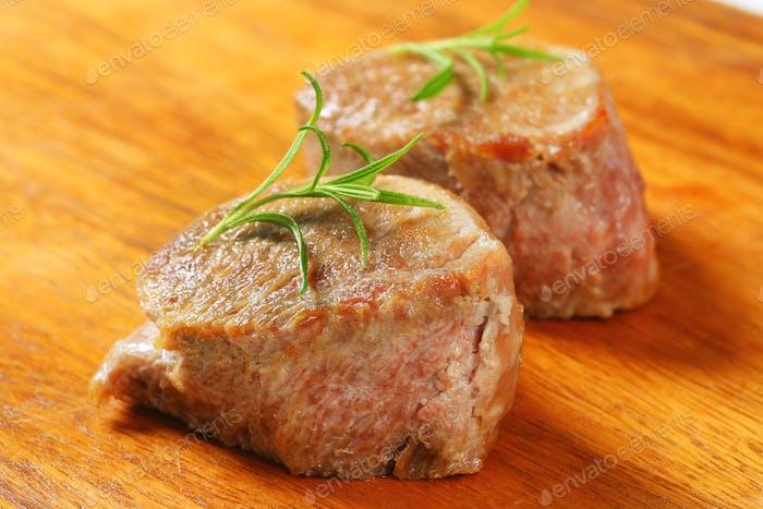 gebratenes Schweinefleisch Medaillons
