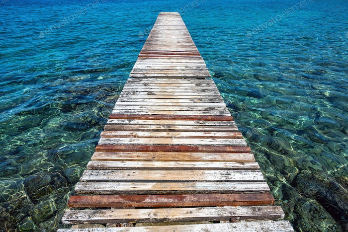Old and worn jetty