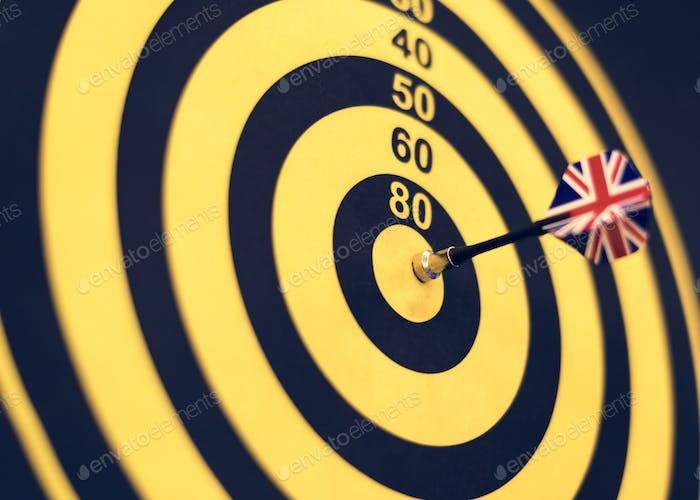 Bullseye score on a dartboard