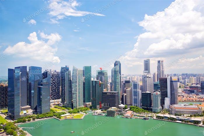 Skyline del centro de Singapur