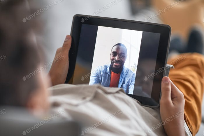 Boy Having Video Call