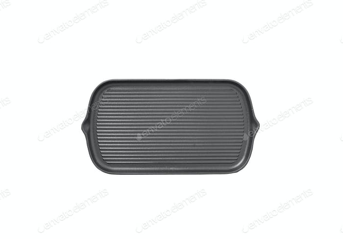 New black nonstick coating roasting pan isolated on white