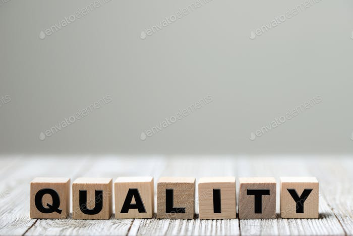 Produkt- oder Dienstleistungsqualität konzeptionell