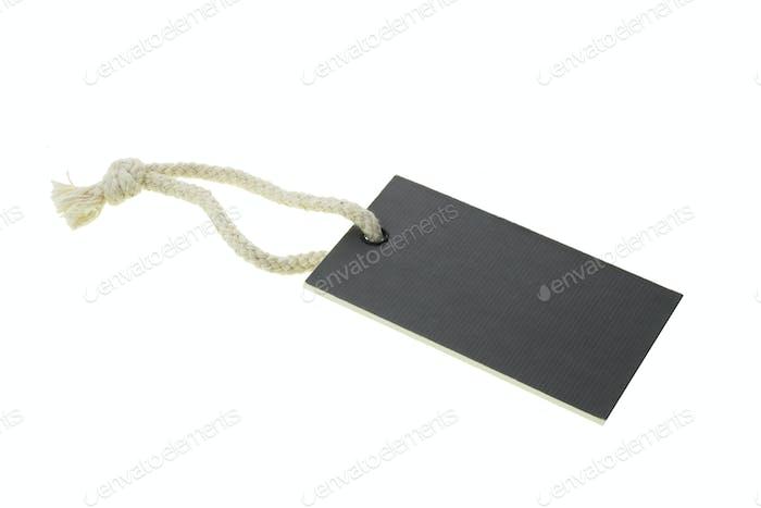 Black blank cardboard paper label