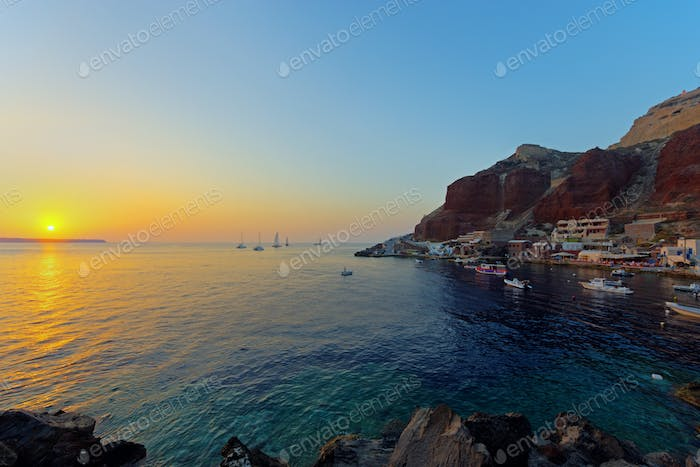Ammoudi at sunset