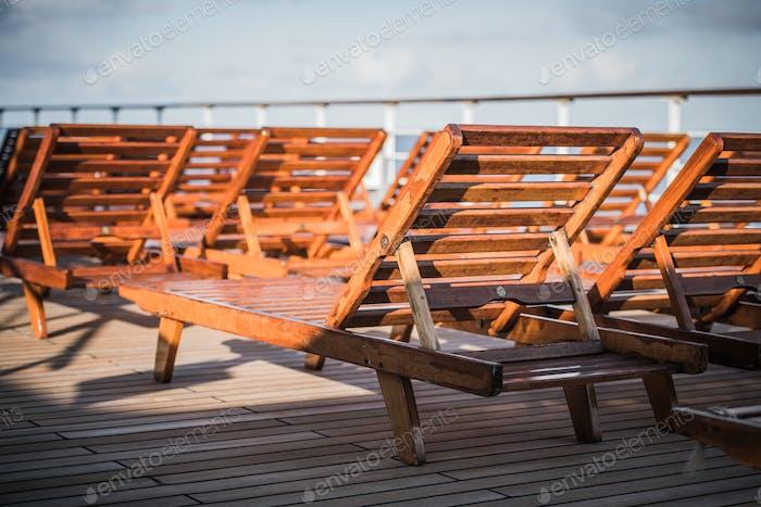Cruise Ship Empty Deck
