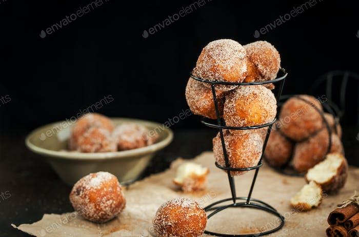 Homemade delicious ball doughnuts