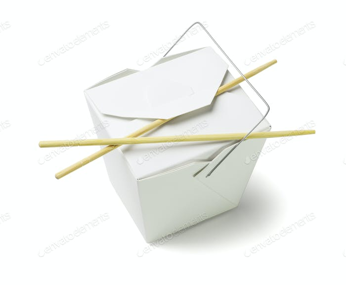 Takeaway Food Container with Chopsticks
