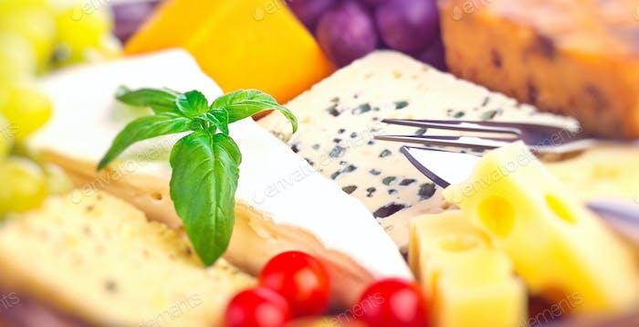 Lecker Käse-Hintergrund