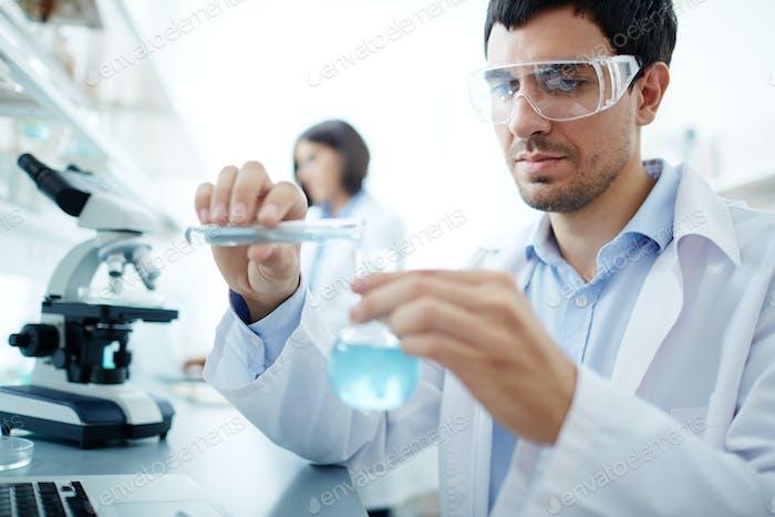 Clinician in lab