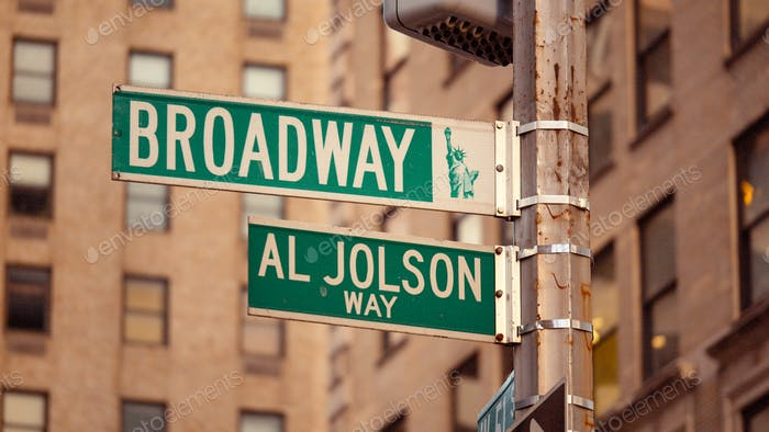 Street signs in New York City
