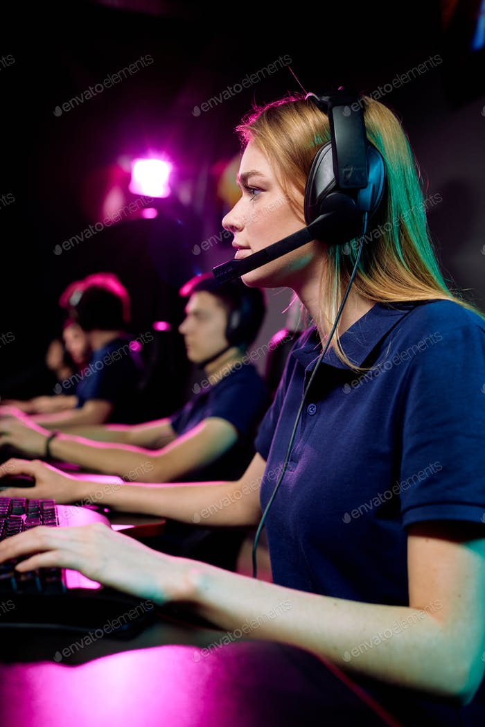 Female computer gamer