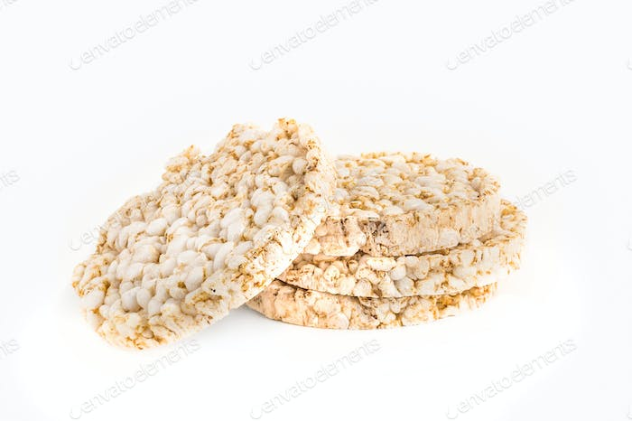 Pile of four puffed rice