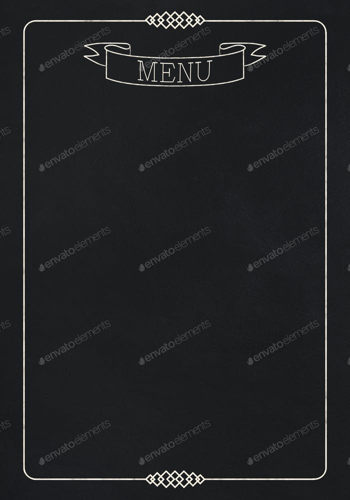 Black board as mockup for restaurant menu