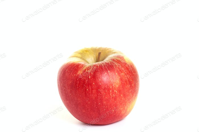 Fresh, tasty apple  on a white background.